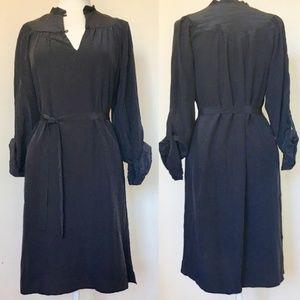 Twelfth St By Cynthia Vincent Black Silk Dress (M)